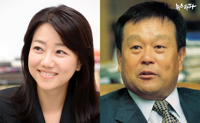 서향희 변호사(왼쪽)와 박순석 신안그룹 회장(오른쪽)