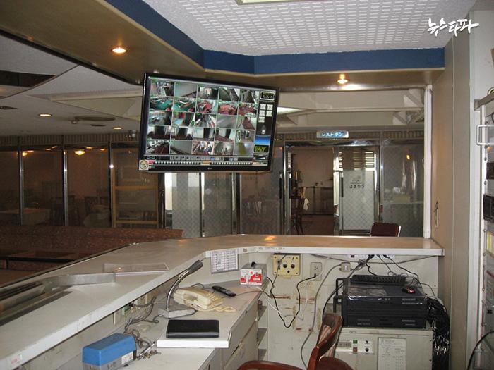 ▲ 세월호 안내데스크에 설치된 CCTV 모니터