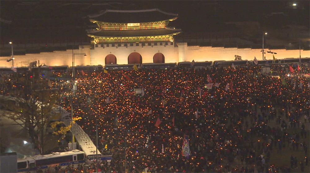 박 대통령의 '버티기'... 또 100만 촛불,