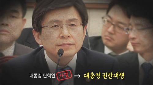 박근혜-최순실 체제 부역자 황교안… 권한대행 불가