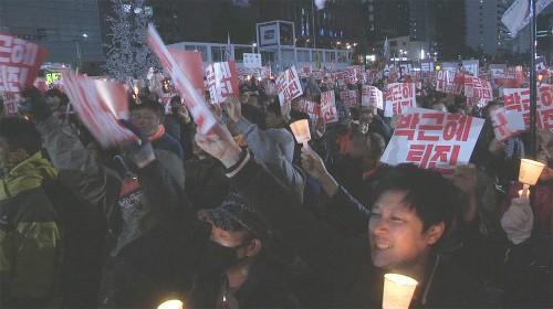 촛불 명예혁명 …탄핵표결 이끌다