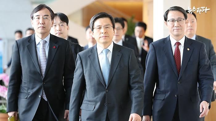 ▲ 페루에셔 열린 APEC 정상회담이 끝난 뒤, 귀국하는 황교안 총리.