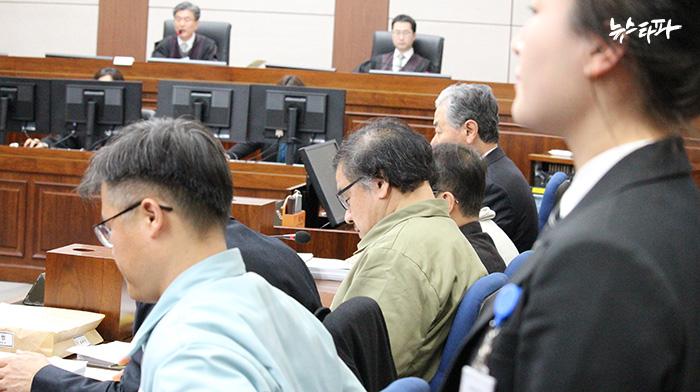 1월 5일 열린 '박근혜-최순실 게이트' 첫 재판.사진: 공동취재단