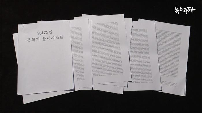 ▲ 문화예술계 블랙리스트 9천473명.