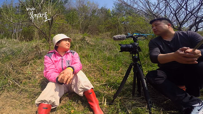 경남 합천에서 만난 세 아이 엄마. 박경선 씨, 밭을 개간하던 중 잠시 짬을 내 인터뷰했다.