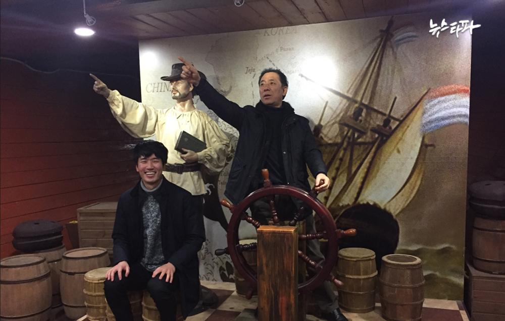 문승용 씨와 아들 문원준 씨가 올해 2월 제주도에서 찍은 사진. 이 사진이 문승용 씨가 아들과 찍은 마지막 사진이다.