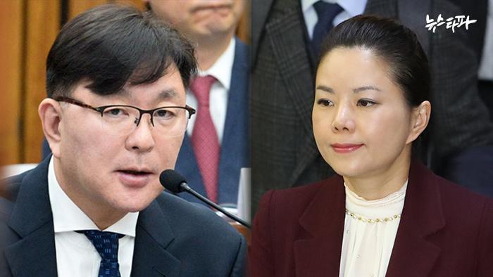 ▲ '김영재 의원' 김영재 씨(왼쪽)와 DW커리어 대표 이현주 씨