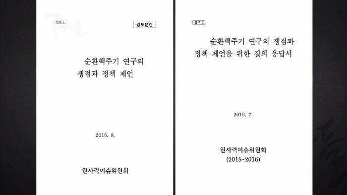 ▲ 2016년 원자력학회 원자력이슈위원회가 작성한 보고서