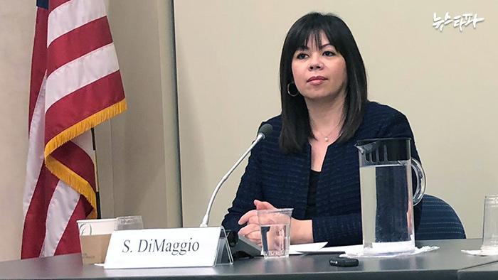 ▲ 북-미 1.5 트랙 회담을 주재하는 수잔 디마지오 뉴아메리카재단 선임 연구원
