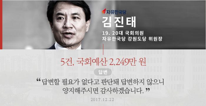 자유한국당 김진태 19, 20대 의원