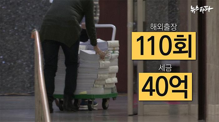 ▲20대 의원들의 해외출장 지출증빙 서류는 12월 14일 이후 한차례 더 열람할 수 있었다.