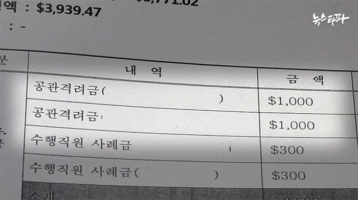 ▲국회의원들의 해외출장 증빙서류를 확인하던 중 무더기로 발견한 격려금 지급 내역
